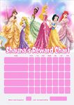 Personalised Disney Princess Reward Chart (adding photo option available)